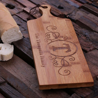 Personalized Bread & Cheese Bamboo Cutting Board