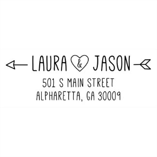 Love Arrow Self Inking Return Address Stamp