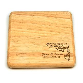Square Wood Trivet #3