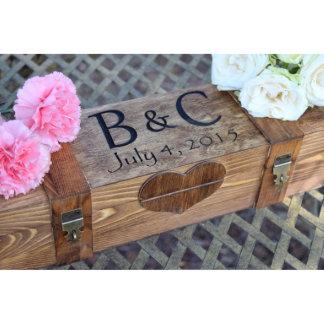 Rustic Wooden Wedding Wine Box