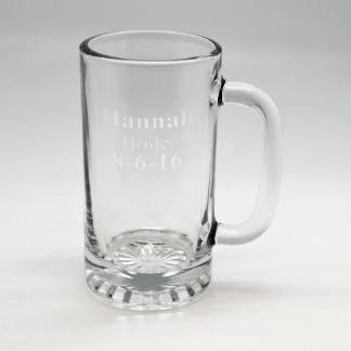 Custom Sand Etched Tankard #18