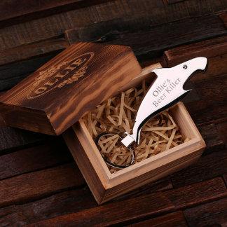 Custom Shark Steel Key Chain Bottle Opener w/Box