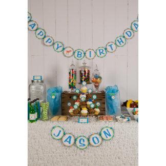 Dinosaur HAPPY BIRTHDAY Banner with Name