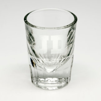 Personalized Initials Sand Etched Shot Glass