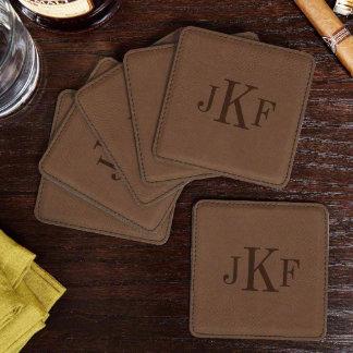 Classic Monogram Coasters, Set of 6