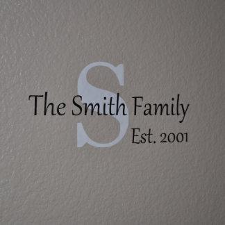 Etiqueta personalizada de la pared del vinilo del