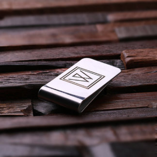 Personalized Monogram Stainless Steel Money Clip