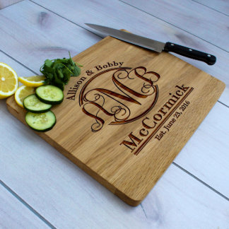 Personalized White Oak Cutting Board