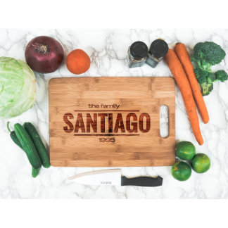 Personalized Cutting Board with Family Name Gift