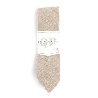 Personalized Monogram Soft Burlap Necktie