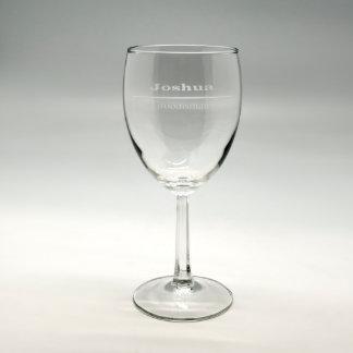 Personalized 8.5 oz Wine Glass #8