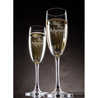 Personalized Champagne Glass Set of Two