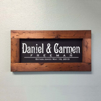 Classic Wood-Framed Established Wedding Sign