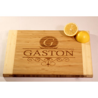 Personalized Two-Tone Cutting Board - Gaston