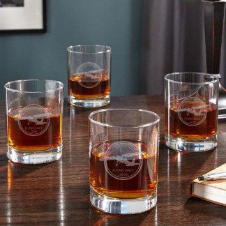 Vidrios personalizados aviador del whisky