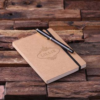Personalized Banded Kraft Paper Portfolio Journal