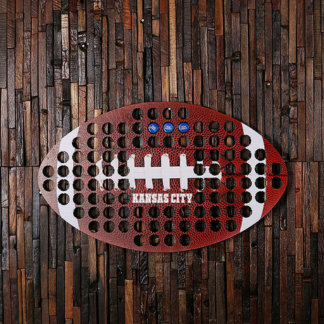 Custom Bottle Cap Holder Shape of Football Kansas