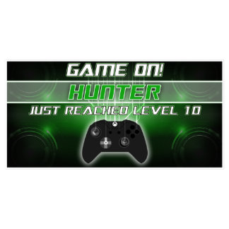 Game On Video Game Birthday Banner