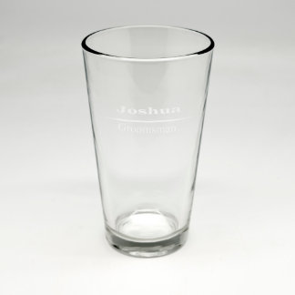 Custom Sand Etched Pint Glass #8