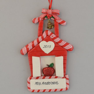 Personalized Schoolhouse Ornament