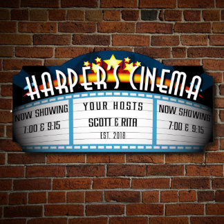 Blockbuster Custom Home Theater Sign