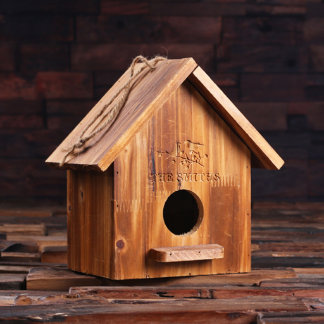 Personalized Pine Wood Functional Bird House