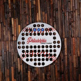Philadelphia Baseball Beer Cap Sign