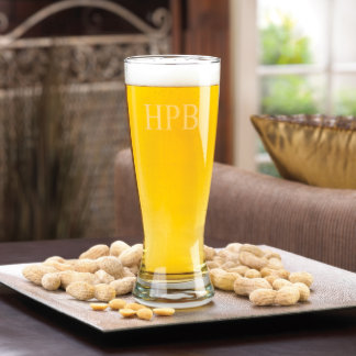 Vidrio de cerveza magnífico personalizado de