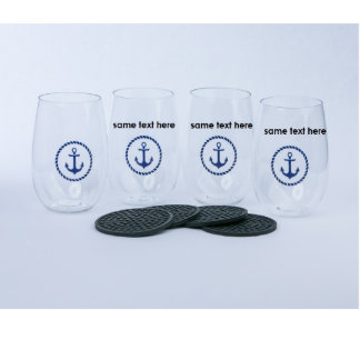 Shatterproof Stemless Cups for Wine or Drinks