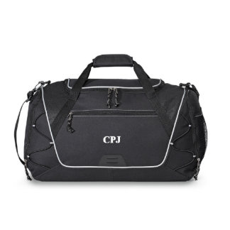 Personalized Black Sports Duffel Bag