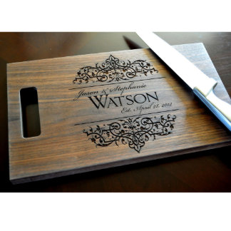 11x15 Personalized Filigree Cutting Board