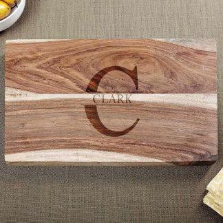 Exotic Hardwood Family Name Cutting Board