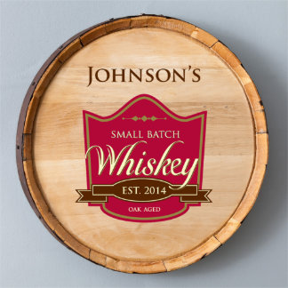 Red Oak Aged Wood Whiskey Barrel Sign