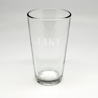 Custom Sand Etched Pint Glass #12