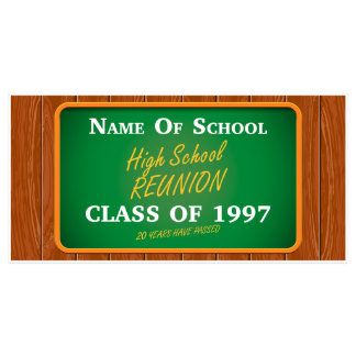 High School Class Reunion Custom Party Banner