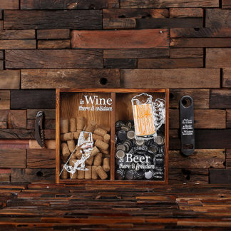 Beer Cap Holder Personalized Shadow Box Corkscrew