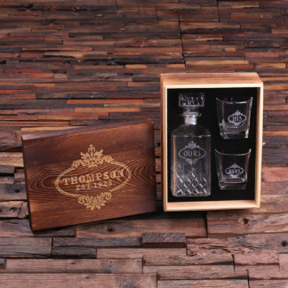 Whiskey Decanter & Glasses His&Hers/Ours with Box