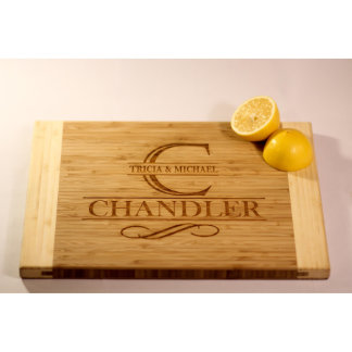 Personalized Two-Tone Cutting Board - Chandler