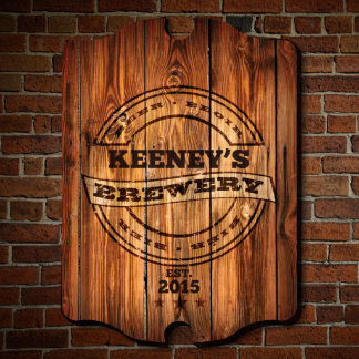 Personalized Name & Date Brewery Bar Sign