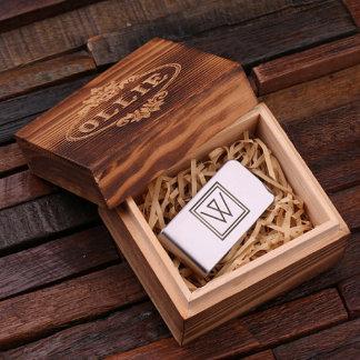 Monogram Stainless Steel Money Clip w/Gift Box