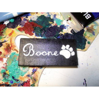 Hand Painted Pet Name Small Canvas Magnet