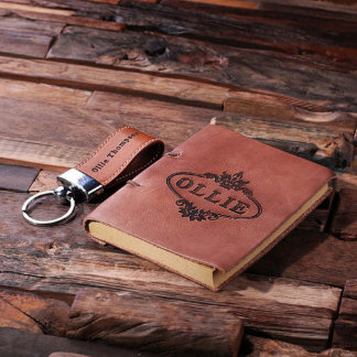 Personalized 2 pc. Key Chain & Journal Gift Set