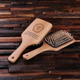 Personalized Wood Bath Accessory Brush