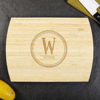 Family Brand Personalized Bamboo Cutting Board