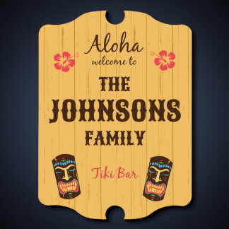 Tiki Bar Personalized Sign