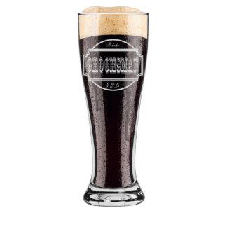 Regalo de los padrinos de boda, vidrios de cerveza