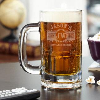 Marquee Personalized Benton Beer Mug