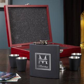 Oakhill Engraved Flask Set with Shot Glasses