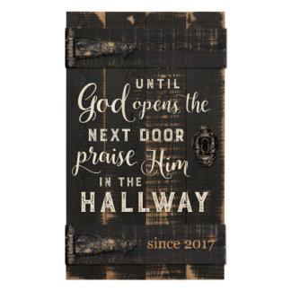 """""""Until God Opens the Door"""" Barn Door Pallet Plaque"""