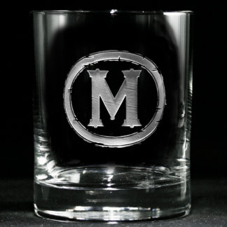 Vidrio con monograma del whisky